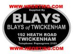 Blays of Twickenham Motorcycle Dealer Decals Transfers DDQ110